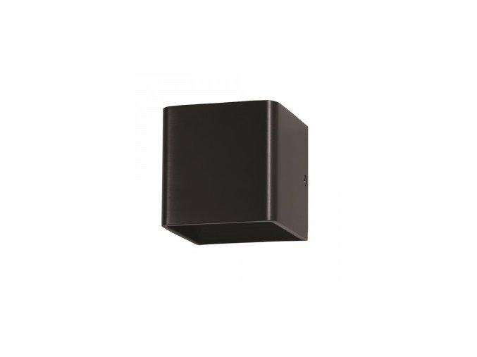 Nástěnné Svítidlo 5W, Černé, Čtverec, Ip20 (Barva světla Neutrální bílá)