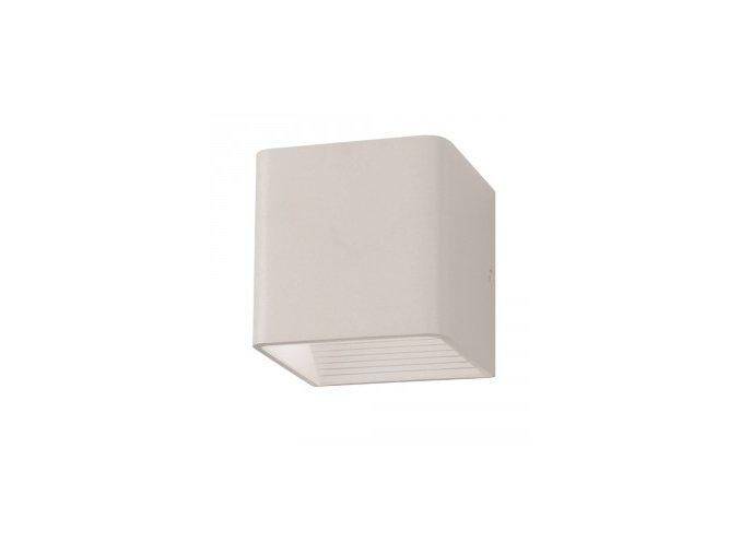 Nástěnné Svítidlo 5W, Bílé, Čtverec, Ip20 (Barva světla Neutrální bílá)