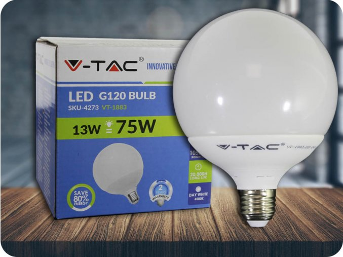 E27 Led Žárovka 13W, G120 (Barva světla Studená bílá)