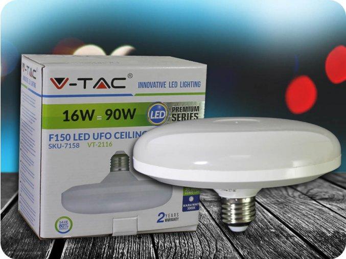 E27 Led Žárovka 15W Ufo Lampa (Barva světla Studená bílá 6400K)