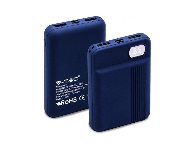 20444 powerbank kapacita 10000mah digitalni displej 2xusb modry