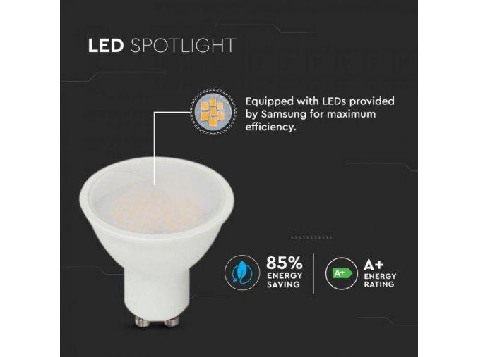 GU10 LED žárovka 10W (1000Lm), 110°, SamSUNG chip