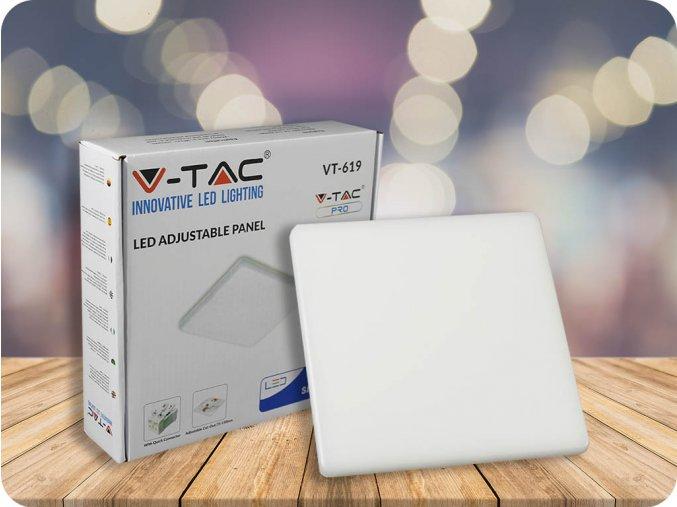 12W LED panel s přizpůsobitelným uchycením, čtvercový, 750lm Samsung chip (Barva světla Studená bílá 6400K)