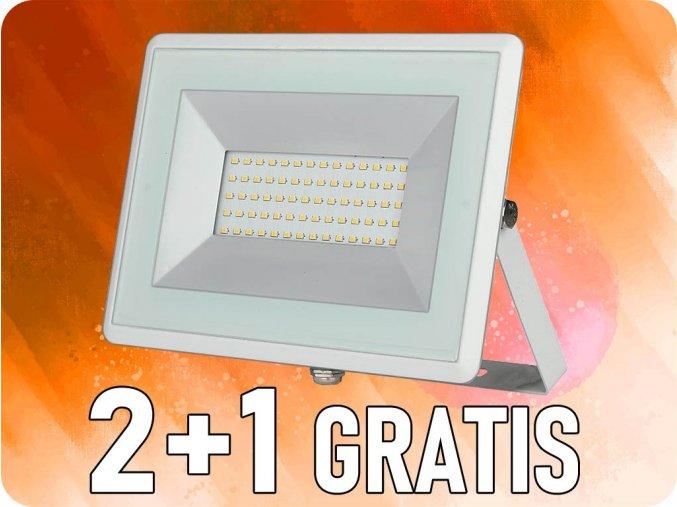 50W LED reflektor (4250lm), bílý, 2+1 zdarma!