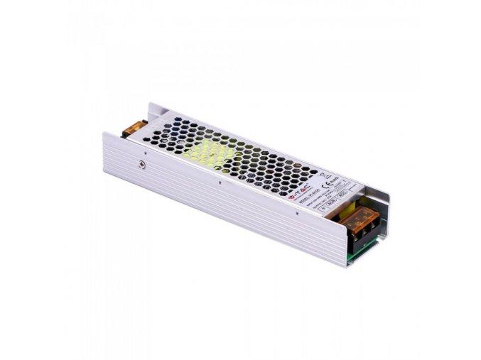 21512 kovovy napajeci adapter pro led pasky120w 5a dc 24v ip20