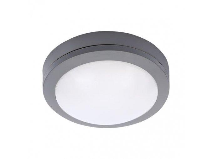 LED venkovní osvětlení kulaté, šedé, 13W (910lm), 4000K, IP54