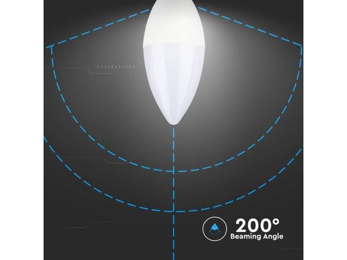 E14 Led Žárovka 4W, Svíčka (Barva světla Teplá bílá)