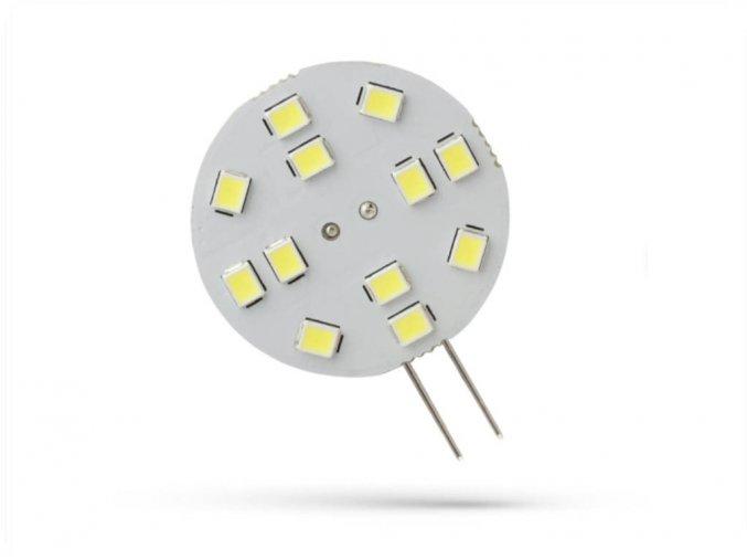 Spectrum LED žárovka G4, 2W, 12LED, 12V, 30mm