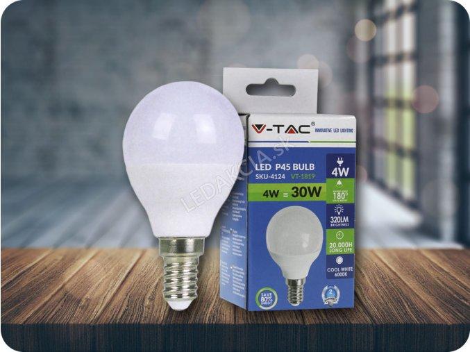 E14 Led Žárovka 4W, P45 (Barva světla Neutrální bílá)