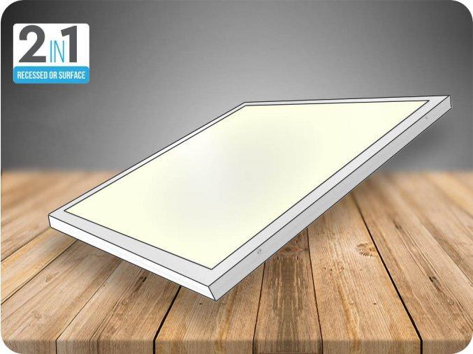 LED přisazený panel s napájecím zdrojem 40W (3200Lm), 595x595 mm (Barva světla Studená bílá)