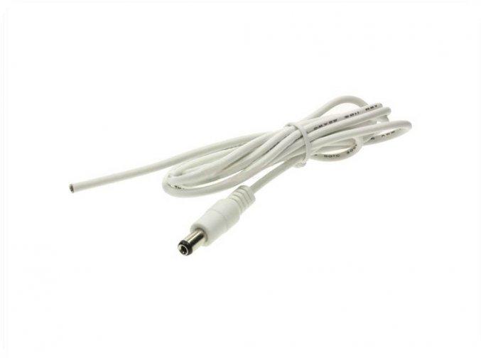 24230 kabel s konektorem na led pas 2 1x5 5mm male samec bily