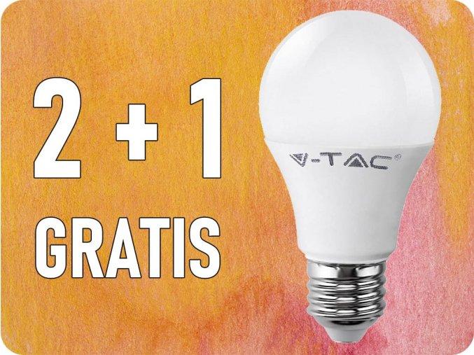 E27 LED ŽÁROVKA 11W (1055lm), A60, 2+1 zdarma! (Barva světla Studená bílá)