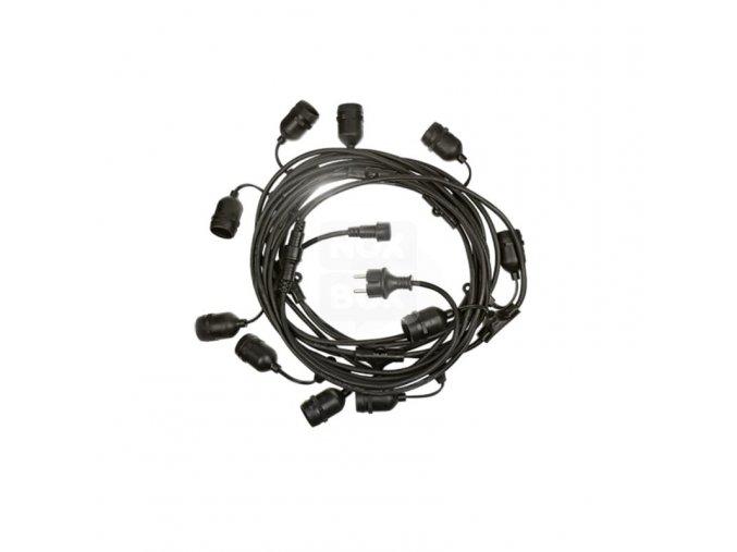 LED řetězové svítidlo  pro 10xE27, 10m, IP44