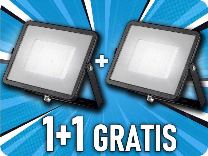 LED REFLEKTOR 50W, 4000LM, Samsung chip, ČERNÝ, 1+1 zdarma!