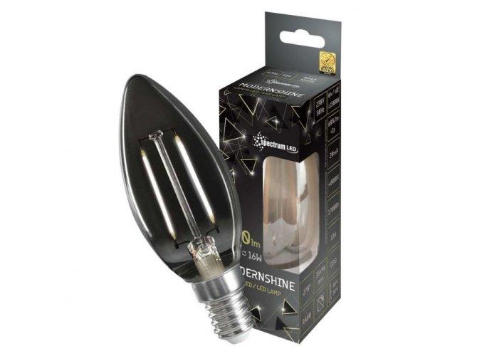 LED žárovka MODERNSHINE SPECTRUM, E14, 2.5W, 150lm