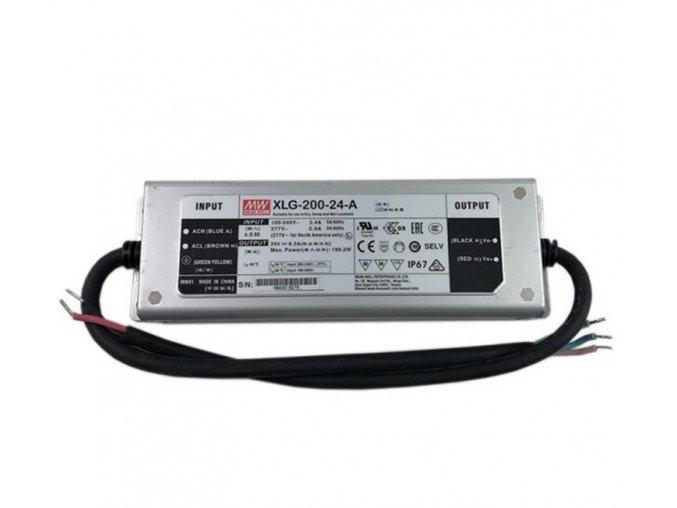 LED napájecí zdroj Mean Well XLG-200-24-A, IP67