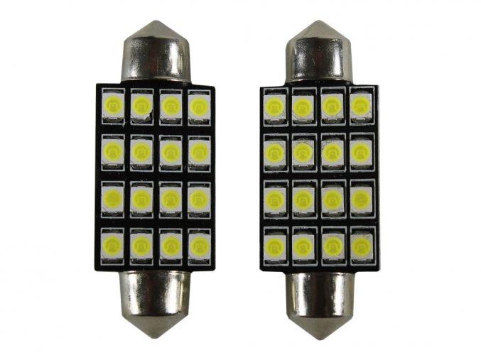 2649 1 led autozarovka c5w 16 x led 41mm