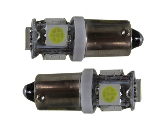 2655 led autozarovka t4w ba9s 5 x led
