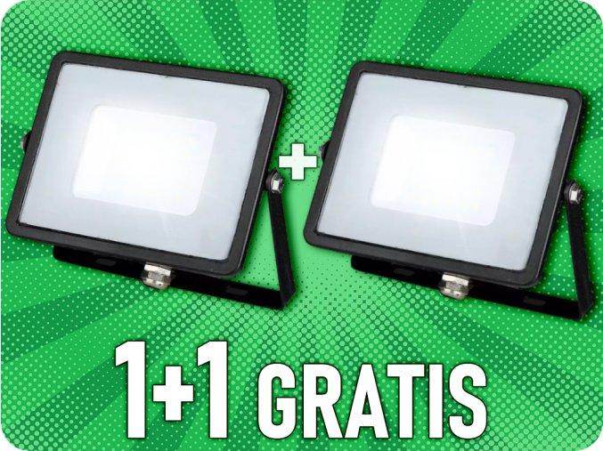 LED REFLEKTOR 30W, SAMSUNG CHIP, 2400LM, ČERNÝ, 1+1 zdarma!