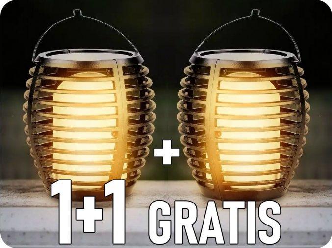 Solární svítidlo plamen zapichovací/na stěnu, 0.45W (5lm), 1700K, IP44, 1+1 zdarma!