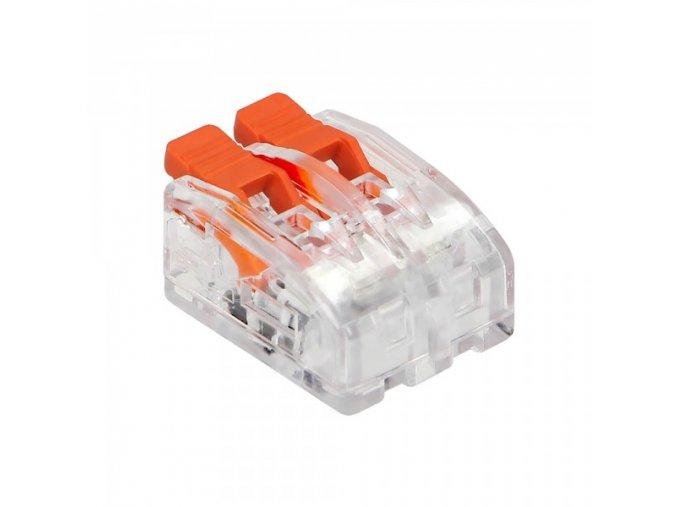 Spojka na kabely 2pin mini zacvakávací, 0.2-4mm2, 450V / 32A