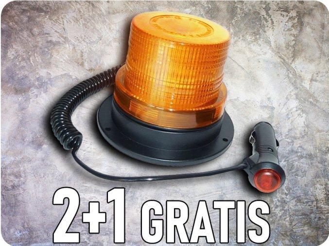 LED střešní výstražné světlo - maják, 20W, 12-24V, oranžové, 2+1 zdarma!