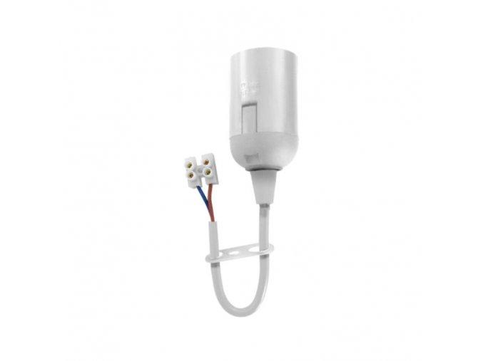 Objímka E27 na kabelu, bílá