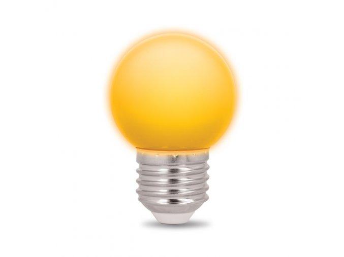Forever Light sada 5ks LED žárovek E27, G45, 2W, žlutá
