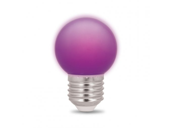 Forever Light sada 5ks LED žárovek E27, G45, 2W, fialová