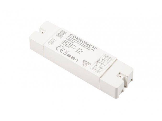 Jednotka pro LED dálk. ovl. Bergmen mono / dual / RGB / RGBW, 12V-288W, 24V-576W, 4x6A