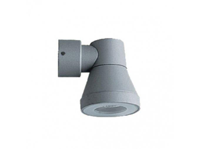 Nástěnné svítidlo GU10, IP54, hliník + sklo, šedé