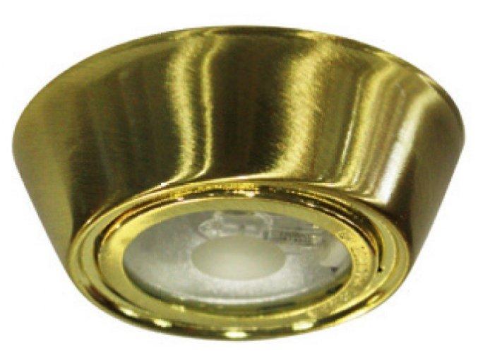 Nástěnné bodové svítidlo G4, 12V, IP45, kulaté, zlaté
