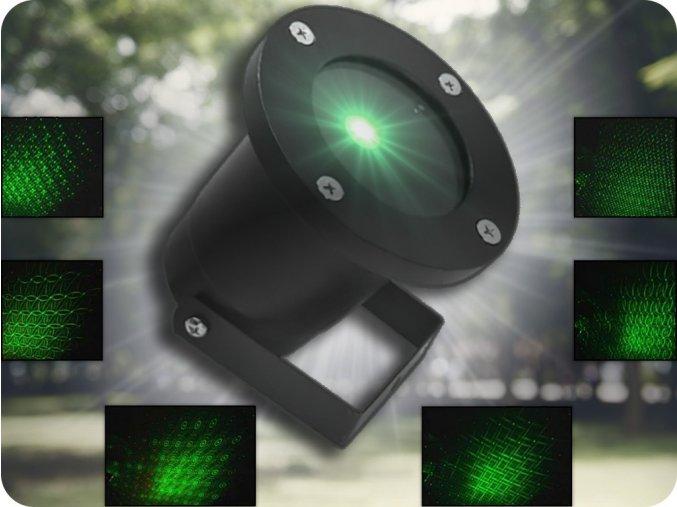 ZLTC zahradní projektor s dálkovým ovládáním, 8 svítících vzorů, IP65