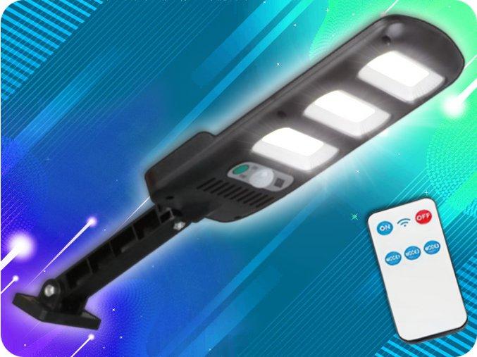 LTC Solární svítidlo s PIR senzorem a dálkovým ovládáním, 3xLED, 24W, 1800lm