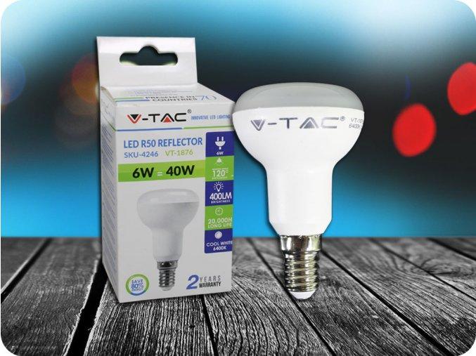 E14 Led Žárovka 6W, R50 (Barva světla Studená bílá)