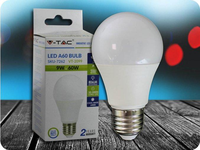 E27 Led 9W Žárovka A60 (Barva světla Studená bílá)