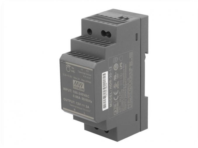 HDR-30-12 zdroj na DIN lištu