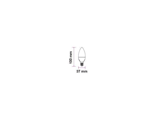 E14 Led Žárovka 6W, Svíčka, Teplá Bílá 2700K, Stmívatelná  + Zdarma záruka okamžité výměny!