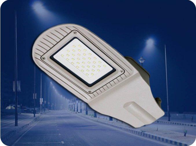 Led Veřejné Osvětlení So Senzorem 120W (9600Lm), Šedé (Barva světla Studená bílá)