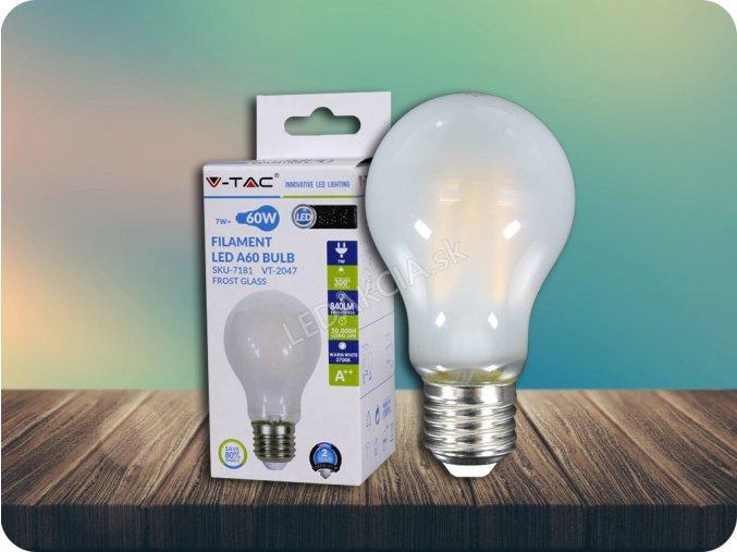 E27 Led Filament Žárovka 7W (840lm), A60 (Barva světla Studená bílá)