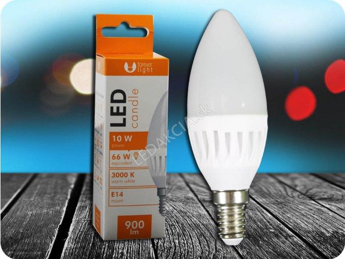 E14 Led Žárovka 10W, Svíčka (Barva světla Studená bílá)