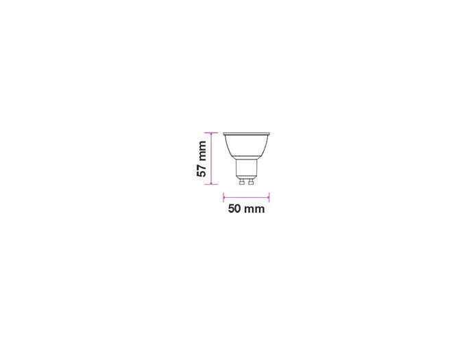 Gu10 Led Žárovka 3W, 110 ° (Barva světla Studená bílá)