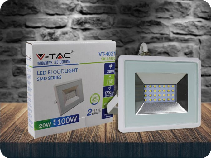 LED REFLEKTOR 20W, E-SERIES, (1700LM), BÍLÝ (Barva světla Studená bílá)