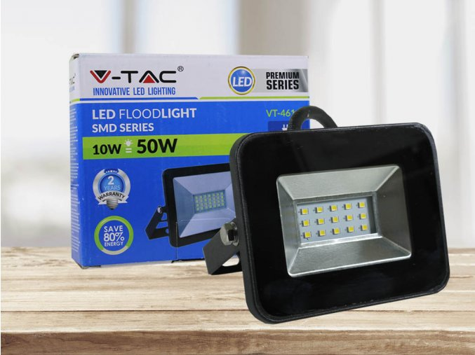 LED REFLEKTOR I-SERIES, 10W, 850 LM, ČERNÝ (Barva světla Studená bílá)