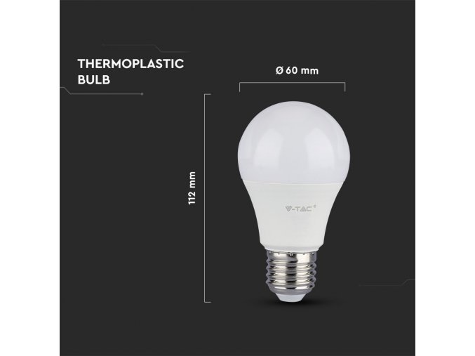 E27 LED ŽÁROVKA 9W (806LM), A60 - 3 PACK (Barva světla Studená bílá)