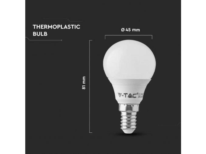 E14 LED ŽÁROVKA 5.5W, P45, SAMSUNG CHIP - ZÁRUKA 5 LET! (Barva světla Studená bílá)