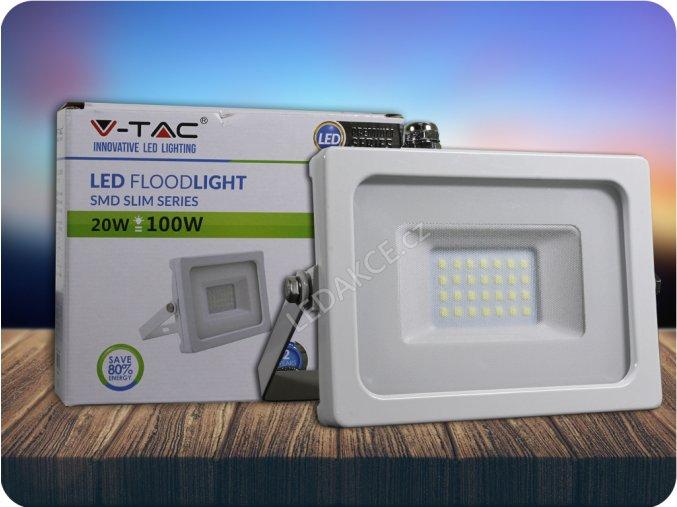 VT-4922, LED REFLEKTOR 20W, 1600LM, BÍLÝ (Barva světla Studená bílá)
