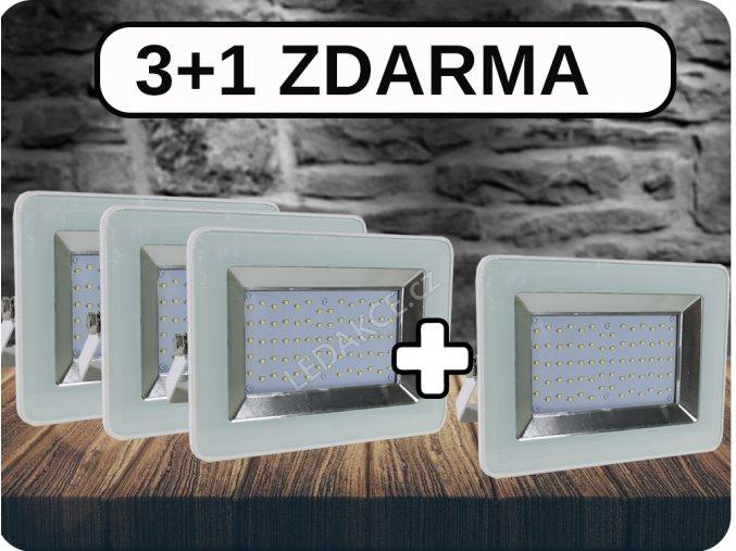 3+1 LED REFLEKTORY I-SERIES, 50W, 4250 LM, BÍLÉ (Barva světla Studená bílá)