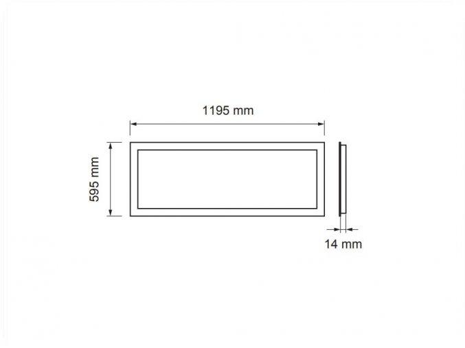 Led Panel 72W, 120X60 Cm (5700Lm)