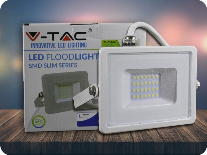 LED REFLEKTOR 20W, SAMSUNG CHIP, 1600LM, BÍLÝ, ZÁRUKA - 5 LET! (Barva světla Studená bílá)